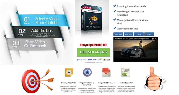 Software Landing Page Video Template Facebook Meledakan Penjualan Anda !