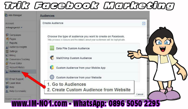 cara membuat custom audience facebook ads full targeted