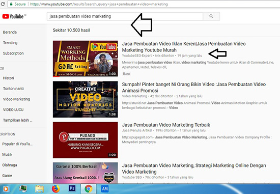 Jasa Pembuatan Video Marketing Halaman 1 Youtube Bergaransi No 1